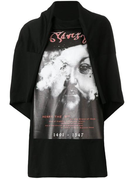 Y / Project t-shirt shirt oversized t-shirt t-shirt oversized women cotton black top