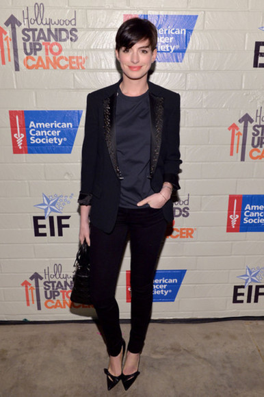 anne hathaway jacket pants