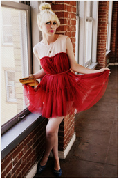 fancy tree house,red dress,dress