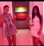 dress,white,leopard print,print,kendall jenner,kylie jenner,beautiful,white dress