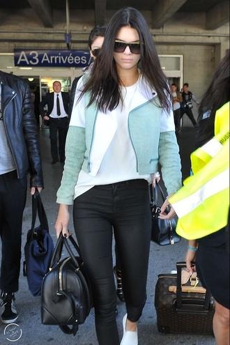 jeans teal kendall jenner jacket
