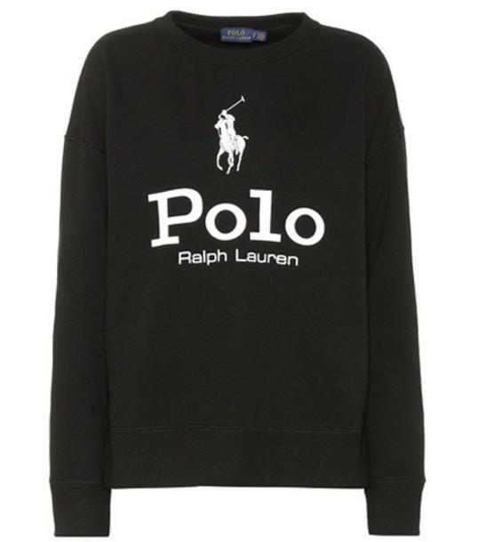 Polo Ralph Lauren sweatshirt cotton black sweater
