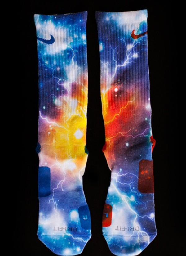 socks elite galaxy print