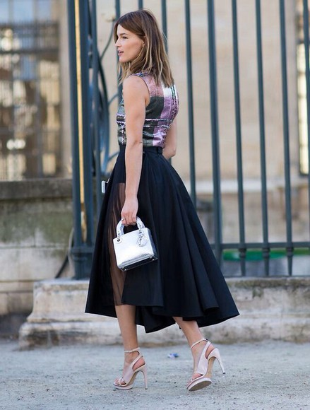 black long skirt black skirt streetstyle mesh skirt