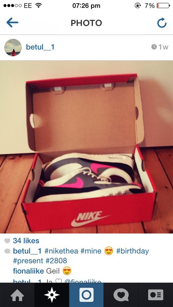 shoes nike air max thea grey