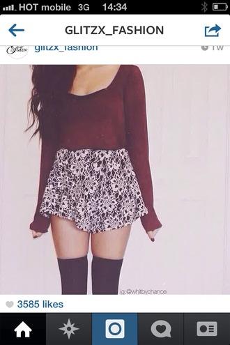 skirt red black white shirts socks shirts with sayings beautiful mini skirt shirt