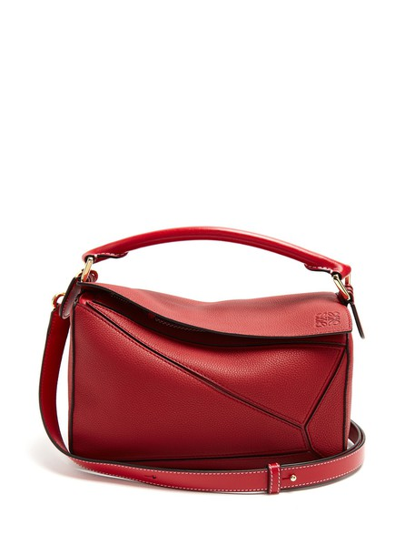 LOEWE cross bag leather dark dark red red