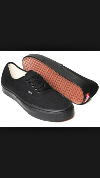 shoes vans vans sneakers black vans all black