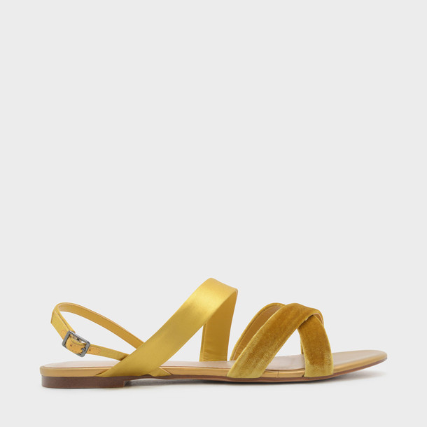 cross sandals yellow shoes