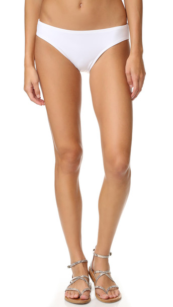 Norma Kamali Scoop Bikini Bottoms - White
