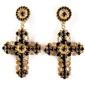 jewels,dolce and gabbana,earrings,cross earring,cross,ears,jewelry