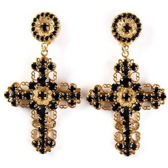 jewels dolce and gabbana earrings cross earring cross ears jewelry