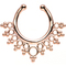 Rose gold ip bubbles and beads non-pierced clip on septum ring | body candy body jewelry