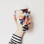 mug,roses,floral,hipster