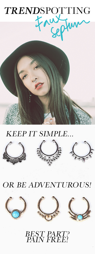jewels septum nose rings fake septum piercing nose ring nose jewelry