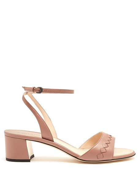 Bottega Veneta sandals leather sandals leather dark pink shoes