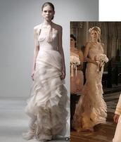 dress,wedding dress,serena van der woodsen,blake lively,celebrity