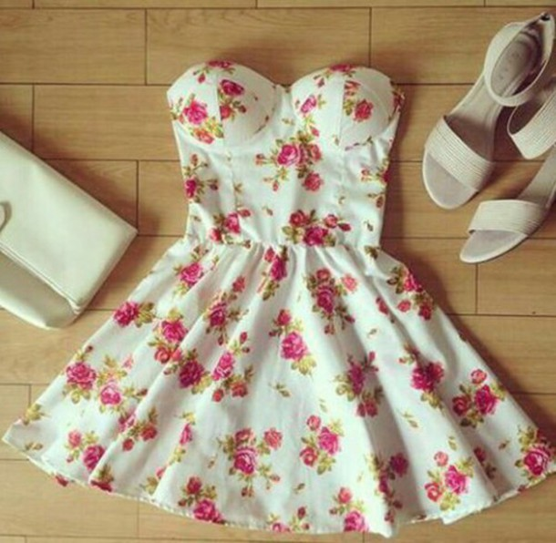 dress flowers shoes bag