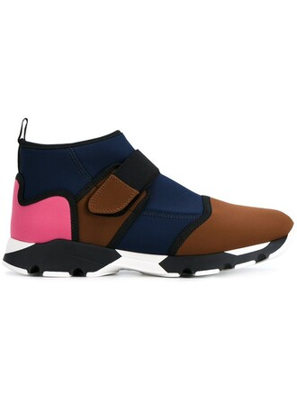 sneakers neoprene blue shoes