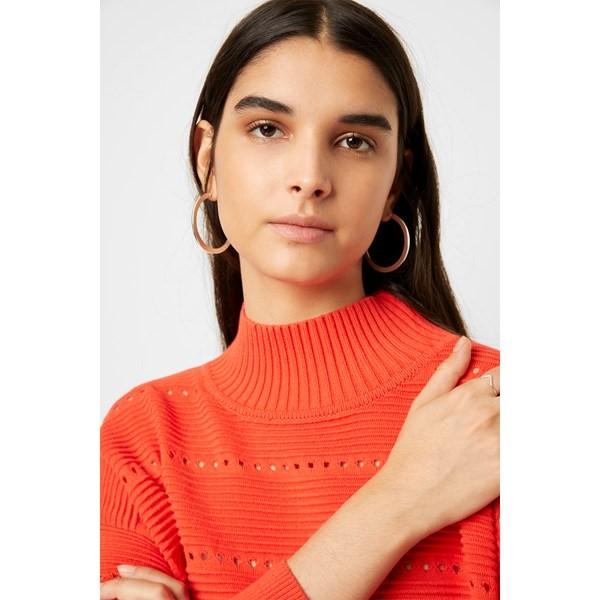 Liliya Mozart Knit Lace Stripe Jumper - grey mel