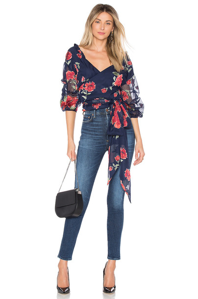 Lovers + Friends blouse navy top