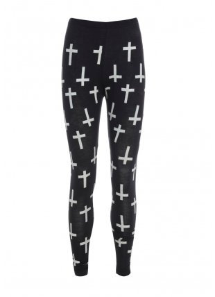 Glitter Cross Leggings - Bottom from Glebe UK