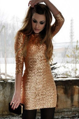 Sirenlondon — shine on sequin dress
