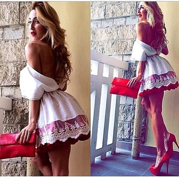 dress russian russian prom dress russian doll white dress red dress red dress short lace dress lace dress white short cute dress beige