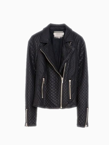 New Look Quilted Leather Look Biker Jacket | Choies