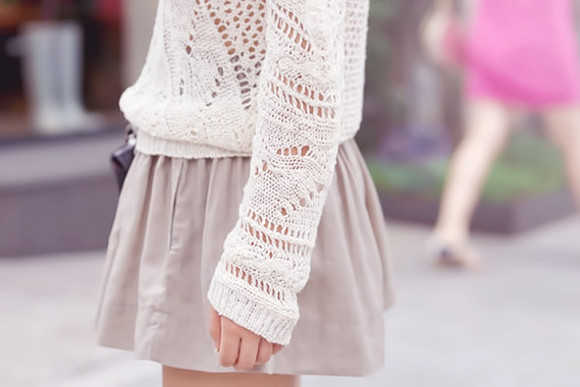 sweater fishnet skirt clothes cutout