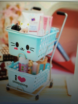home accessory kawaii cute mint stationary make-up kawaii accessory