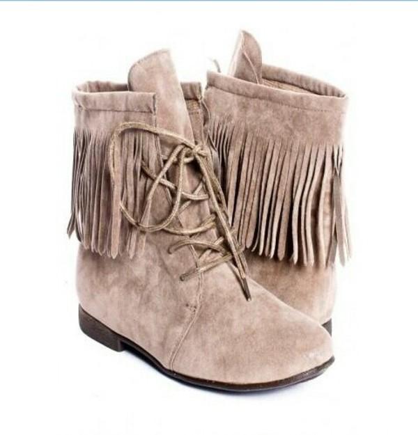 shoes combat boots boots fringes fringe shoes cream boots cream fringe boots lace
