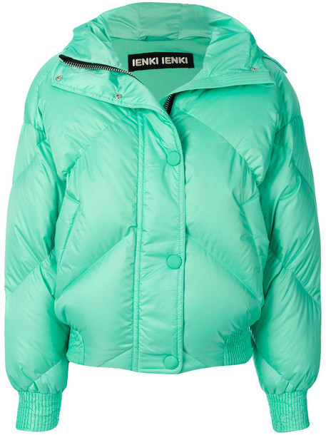 Ienki Ienki jacket puffer jacket women spandex cotton green