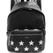Mini city star-appliqué leather backpack
