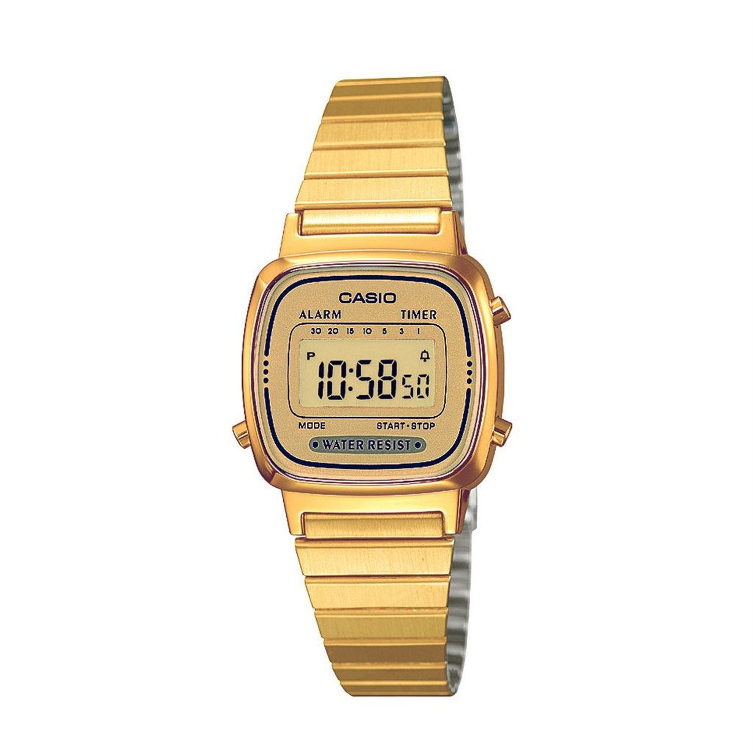 Steel quartz watch with digital dial: casio: clothing