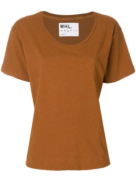 Margaret Howell t-shirt shirt t-shirt women cotton brown top
