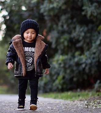 coat leather sneakers fur coat faux fur coat fur wool leather jacket faux leather black jacket black jeans black pants graphic tee fall outfits kids fashion