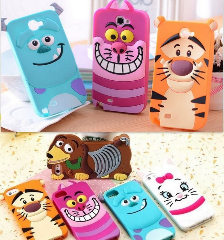 Cartoon Characters Animal Silicone Soft Cover Case For iphone 5/5S 4/4S 3D cases