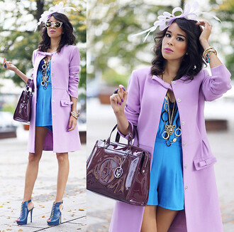 lavender lavendar wool jacket trench coat double breasted collarless fall outfits winter outfits purple tamara gonzalez perea macademiagirl poland macademia girl warsaw pale candy mint powder