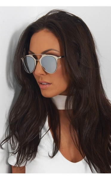 Silver Aviator Sunglasses - from The Fashion Bible UK