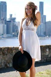 dress,white boho dress,ustrendy,www.ustrendy.com