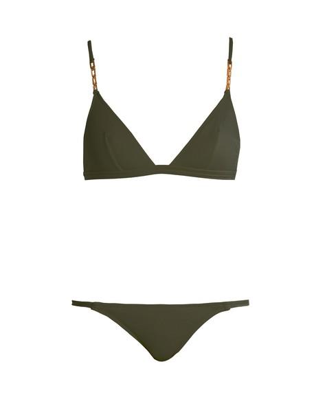 Melissa Odabash bikini triangle bikini triangle khaki swimwear