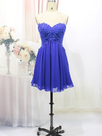 dress prom prom dress fashion style blue navy navy dress pretty cute cute dress floral sweetheart dress strapless strapless dress tulle dress lace lace dress flowers mini mini dress short short dress love wow cool amazing