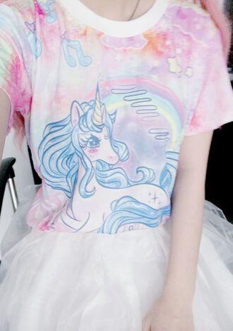 t-shirt unicorn unicorn shirt kawaii unicorn tee