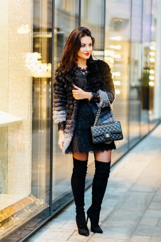 disicouture blogger jacket dress shoes bag tights jewels