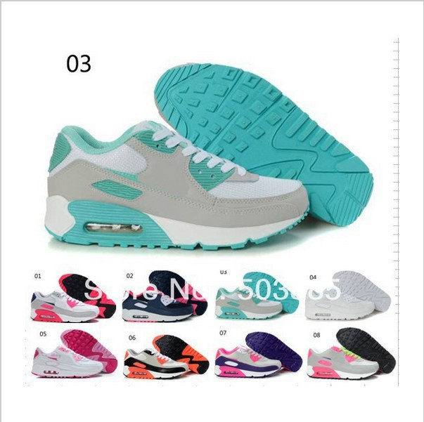 High quality women running shoes lady summer/spring NK brand air mesh leather upper max sole sneaker sport footwear 90 size36 40-in Sneakers from Shoes on Aliexpress.com