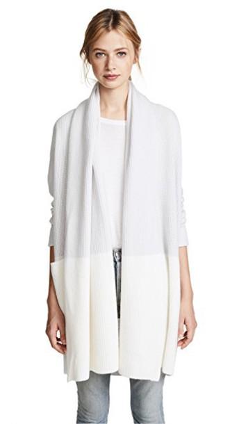 TSE Cashmere cardigan cardigan colorblock silver creme sweater