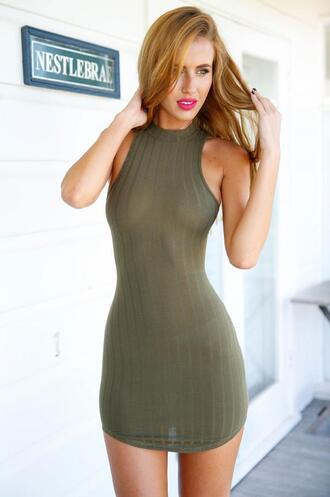 dress girl girly girly wishlist bodycon bodycon dress olive green