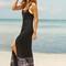 Midnight waves black dress - on sale