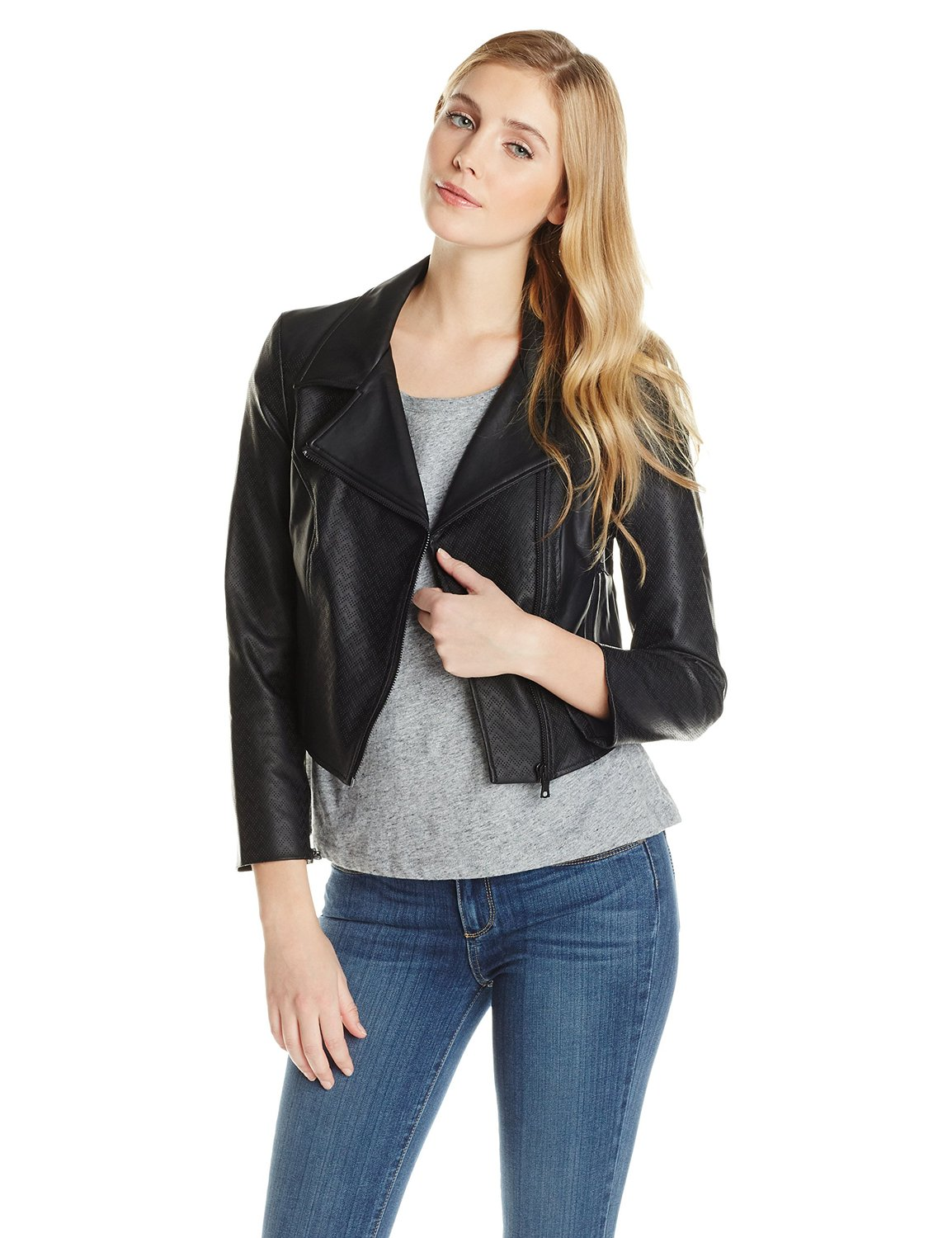 Sam Edelman Women 39 S Vegan Leather Jacket Clothing